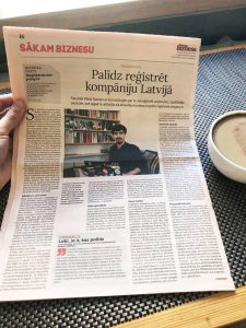 Getting featured in the largest business newspaper in Latvia